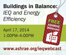 Buildings in Balance: Free ASHREA Webcast