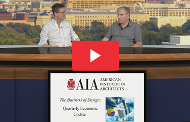 Ned Cramer, Editor-in-Chief of Architect Magazine, with Kermit Baker, Hon. AIA, AIA Chief Economist