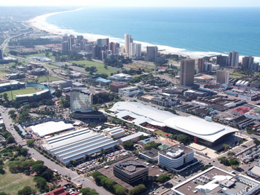 Sky view of Durban, South Africa