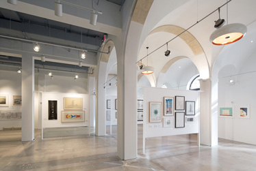 Flexible space for exhibits and events at Miami's Center for Architecture and Design. Image courtesy of Robin Hill.