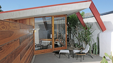 Desert Hot Springs Motel by John Lautner, 1947, now the Hotel Lautner, renovated 2011